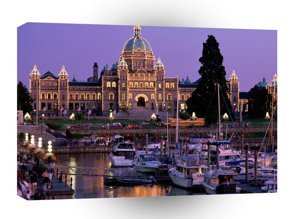Cityscapes British Columbia Legislative Building A1 Xlarge Canvas