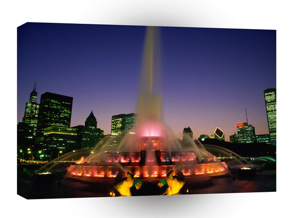 Cityscapes Buckingham Fountain Chicago Illinois A1 Xlarge Canvas