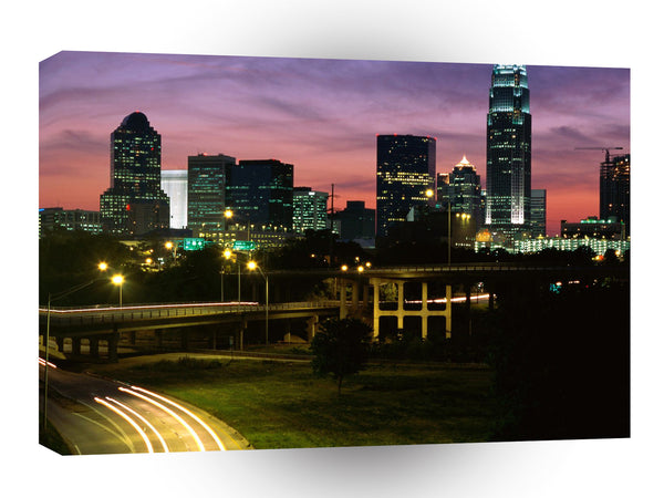 Cityscapes Charlotte Carolina A1 Xlarge Canvas