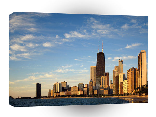 Cityscapes Chicago Skyline Illinois A1 Xlarge Canvas