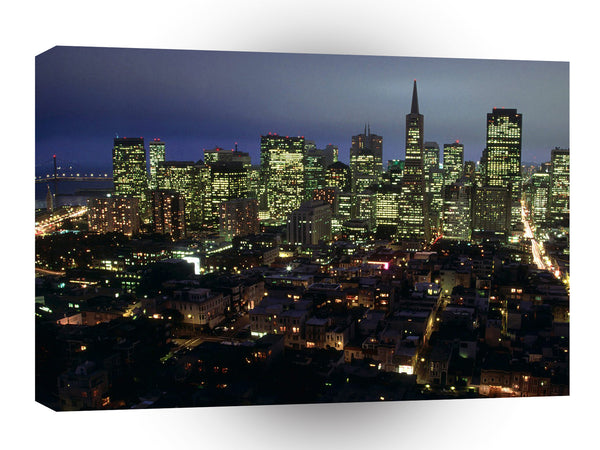 Cityscapes City Lights Of A1 Xlarge Canvas