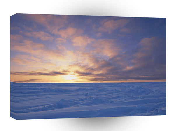 Clouds Arctic Ice Packsunset Canada A1 Xlarge Canvas