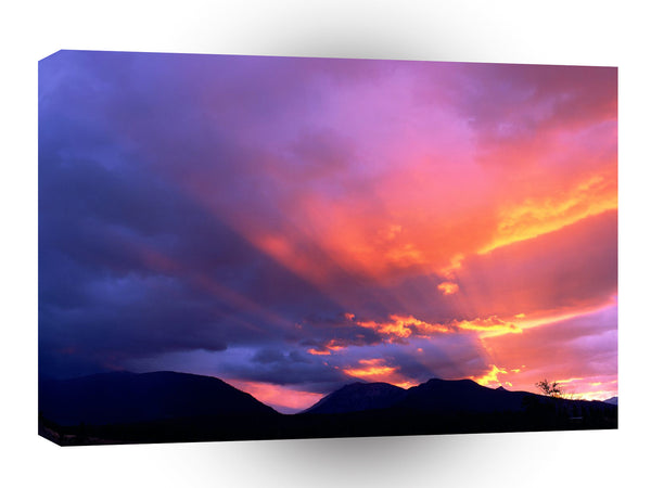 Clouds Breaking Sunset A1 Xlarge Canvas