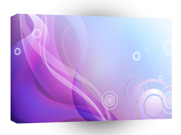 Colours Waves Purple White Circles A1 Xlarge Canvas