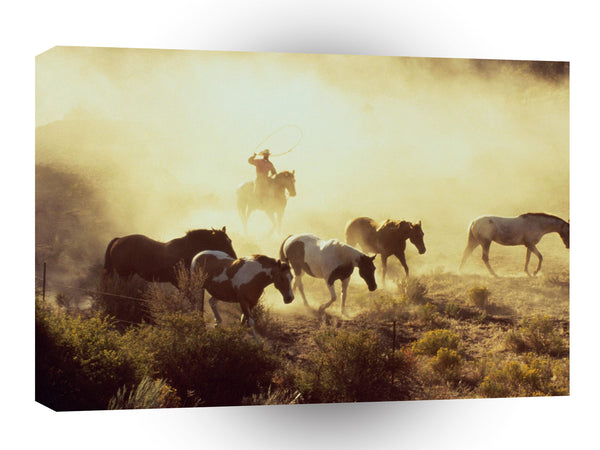 Cowboy Rock Springs Ranch A1 Xlarge Canvas