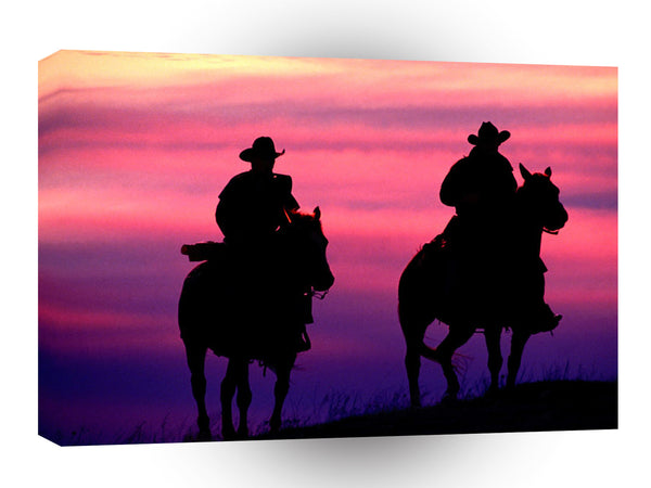 Cowboys Sunset Riders A1 Xlarge Canvas