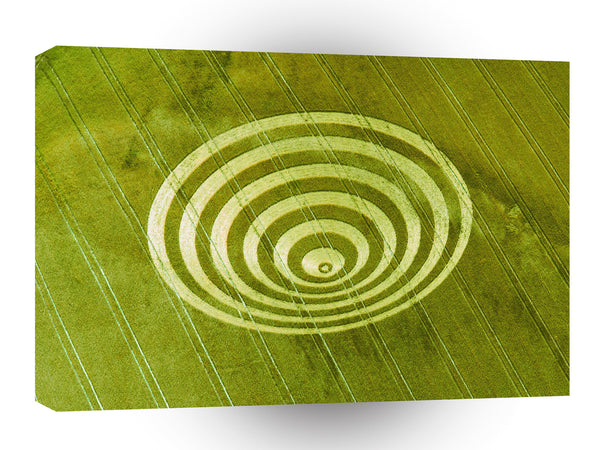 Crop Circle Cissbury Rings 1995 A1 Xlarge Canvas