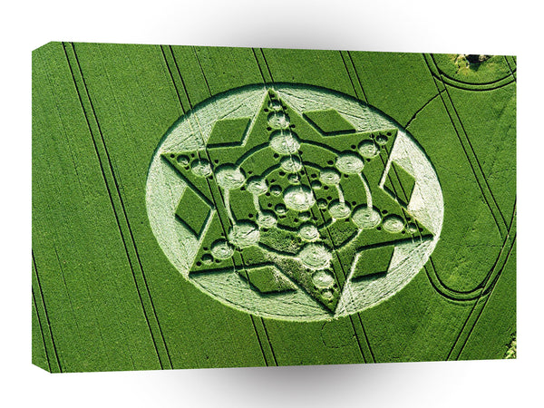 Crop Circle Spinning Star Wiltshire A1 Xlarge Canvas