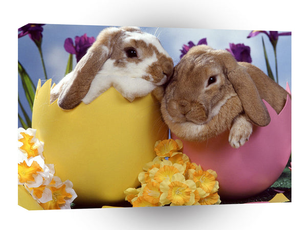 Easter Bunnies A1 Xlarge Canvas