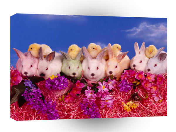 Easter Busy Bunnies A1 Xlarge Canvas