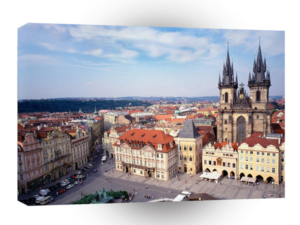 Europe Old Town Square And Tyn Church Prague Czech A1 Xlarge Canvas