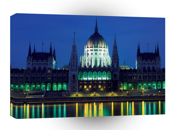 Europe Parliament Building Budapest Hungary A1 Xlarge Canvas
