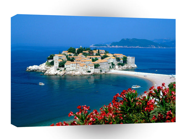 Europe Sveti Stefan Serbia And Montenegro A1 Xlarge Canvas