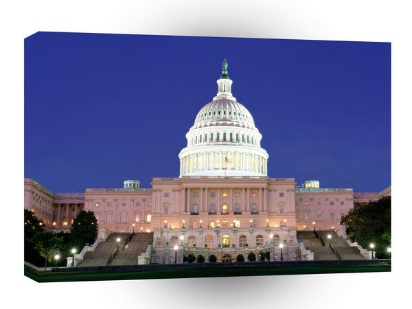 Famous Landmarks Capitol Building At Night Washington Dc A1 Xlarge Canvas