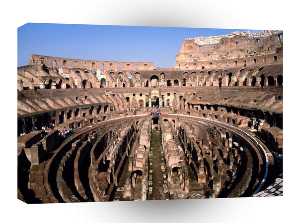 Famous Landmarks Colosseum Rome Italy A1 Xlarge Canvas