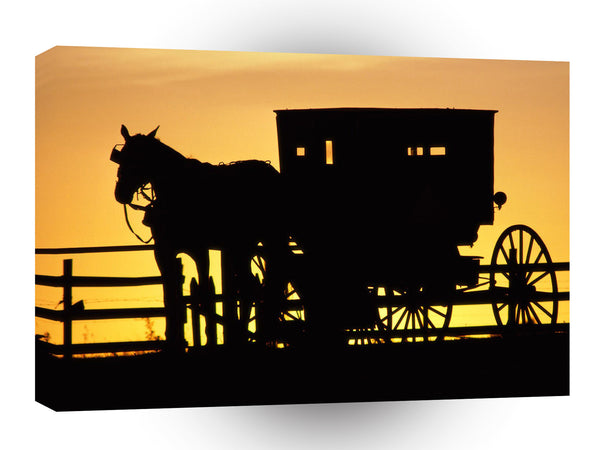 Farms And Barns Amish Horse Drawn Buggy Pennsylvania A1 Xlarge Canvas
