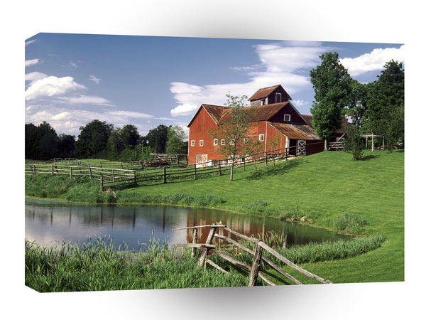 Farms And Barns Craftsbury Common Vermont A1 Xlarge Canvas