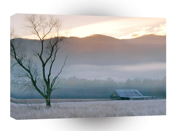 Farms And Barns Fields Of Frost Grundy County Tennessee A1 Xlarge Canvas
