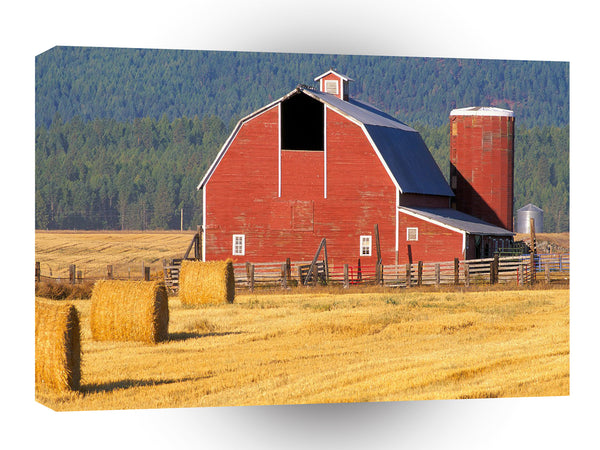 Farms And Barns Flathead Valley Montana A1 Xlarge Canvas