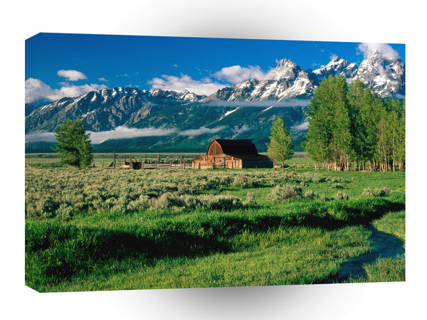 Farms And Barns Grand Tetonpark Wyoming A1 Xlarge Canvas