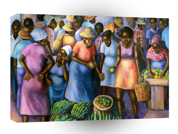 Fine Art African Fruit Market A1 Xlarge Canvas