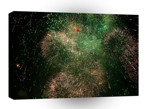 Fireworks Green Explosion Splash A1 Xlarge Canvas
