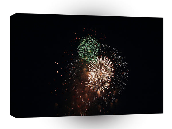 Fireworks Green Mixture Poom A1 Xlarge Canvas