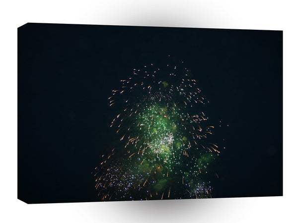 Fireworks Green Shower Fireball A1 Xlarge Canvas