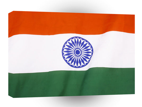 Flag India A1 Xlarge Canvas