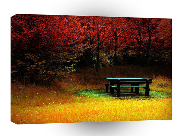 Forest Autumn Picnic A1 Xlarge Canvas
