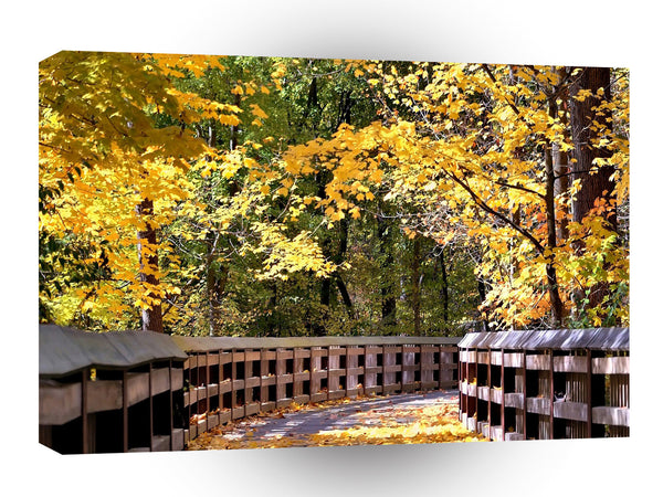 Forest Autumn Yellow Bridge A1 Xlarge Canvas