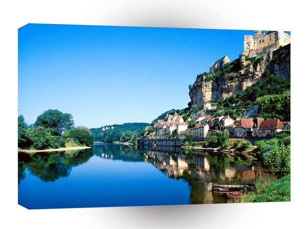 France Beynac Dordogne River A1 Xlarge Canvas