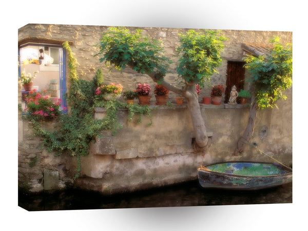 France Canals Of Lisle Sur La Sorgue A1 Xlarge Canvas