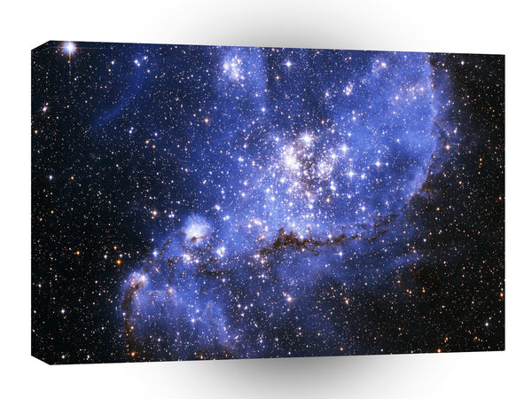 Galaxy Nebula Blue Distant Star Cluster A1 Xlarge Canvas