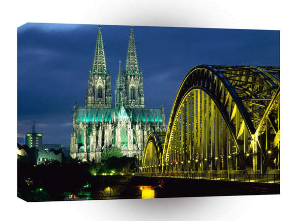 Germany Cologne Cathedral And Hohenzollern Bridge A1 Xlarge Canvas