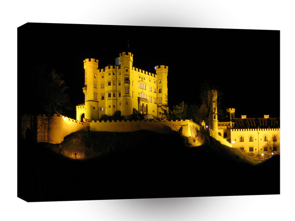 Germany Germany Bavaria Hohenschwangau Castle At Night A1 Xlarge Canvas