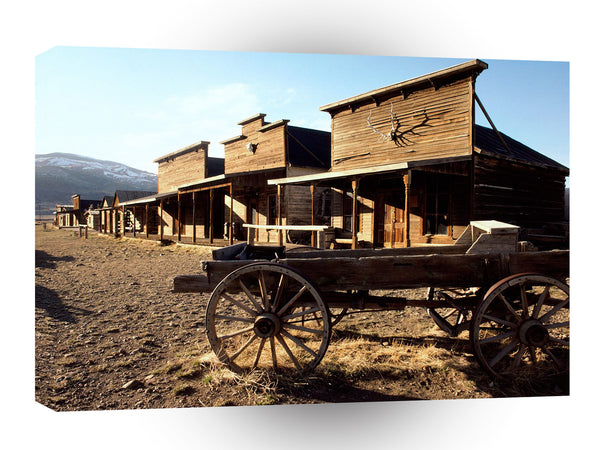 Ghost Towns Ghost Town Wyoming A1 Xlarge Canvas