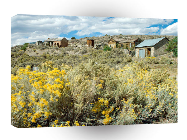 Ghost Towns Historic Ghost Town Belmont Nevada A1 Xlarge Canvas