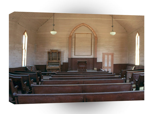 Ghost Towns Methodist Church Interior Bodie California A1 Xlarge Canvas