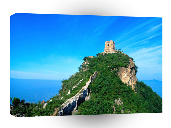 Great Wall Blue Sky Over Tower Ruin A1 Xlarge Canvas