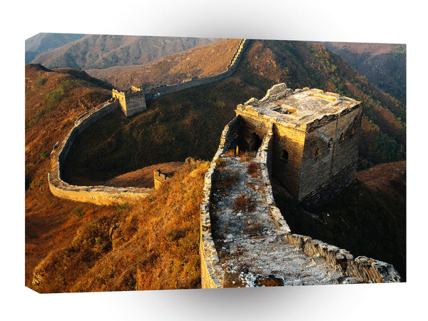 Great Wall Close Up Ruin Sunlit A1 Xlarge Canvas