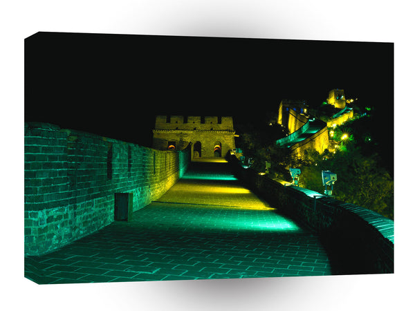 Great Wall Flat Walkway Floodlit A1 Xlarge Canvas