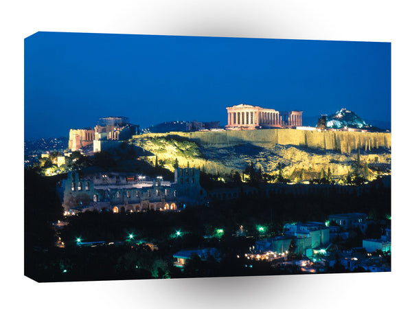 Greece Acropolis Evening Athens A1 Xlarge Canvas