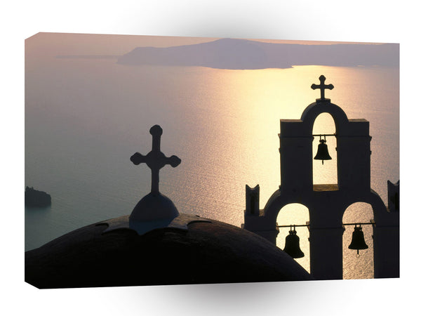 Greece Bell Gable Thira Island A1 Xlarge Canvas