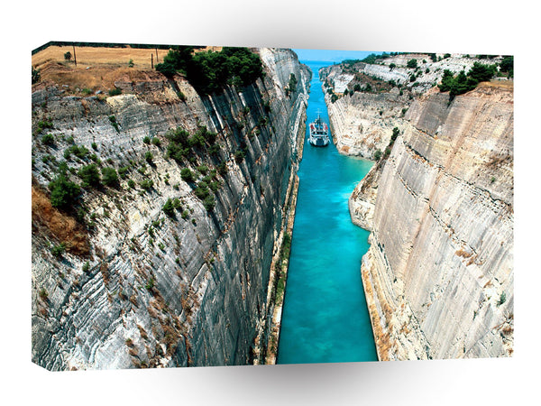 Greece Corinth Canal A1 Xlarge Canvas
