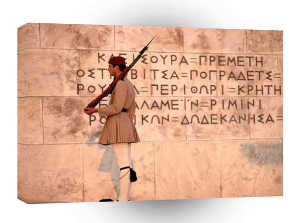 Greece Evzone Guard At Monument Unknown Soldier Athens A1 Xlarge Canvas