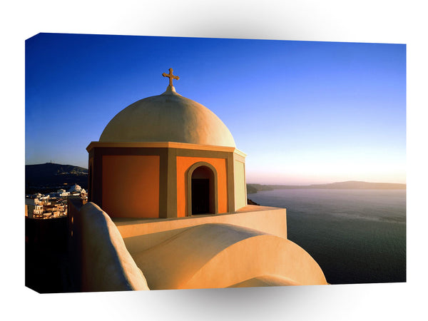 Greece Fira Santorini Cyclades Islands A1 Xlarge Canvas