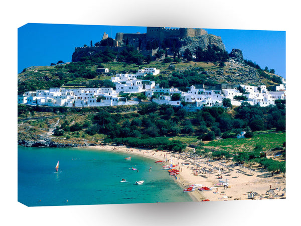 Greece Lindos Rhodes A1 Xlarge Canvas
