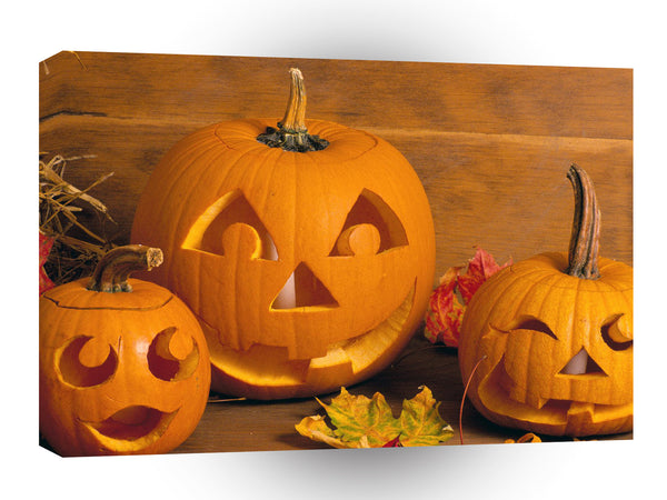Halloween Ghoulish Jack O Lanterns A1 Xlarge Canvas