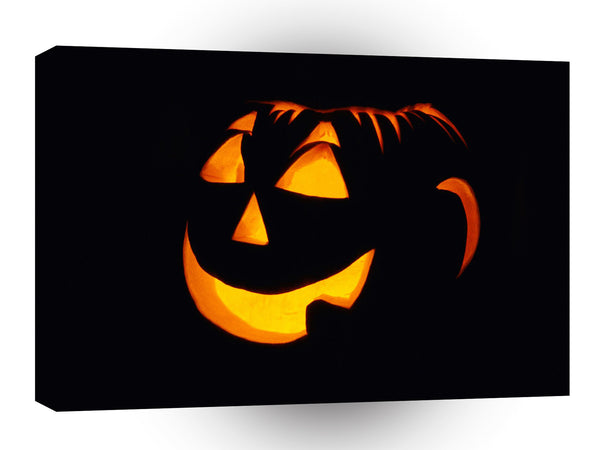 Halloween Illuminated Grin A1 Xlarge Canvas